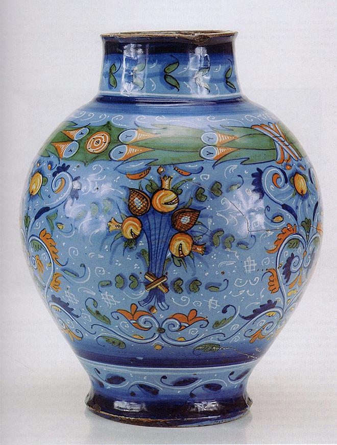 vaso stile Berrettino. Faenza, ultimo quarto del XVI secolo