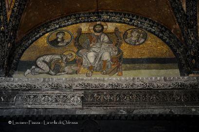 Turchia, Istanbul, Santa Sofia: affreschi cristiani non rimossi dopo la trasformazione in moschea.