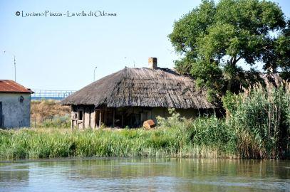 Capanne sulle rive del Danubio.
