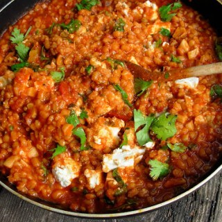 Barley, Tomato and Garlic Risotto