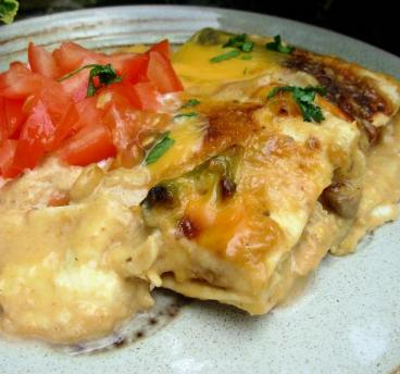 The Secret Recipe Club – Cream Cheese Chicken Enchiladas
