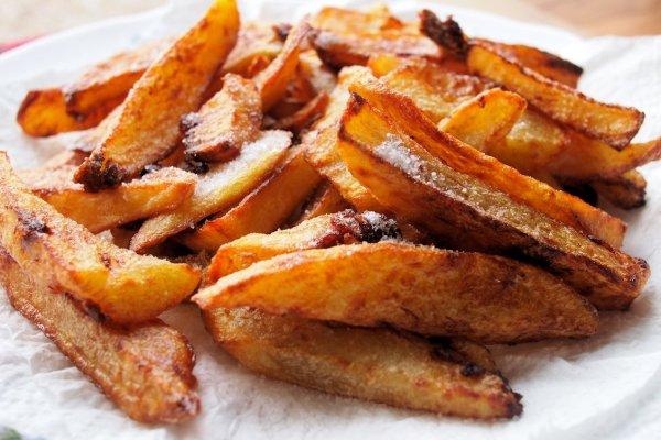Crispy Squashed Chips