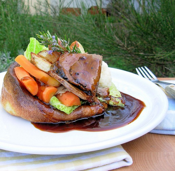 Sunday Lunch in a Yorkshire Pudding