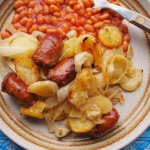 Fabulous Family Food – Cheap & Cheerful Sausage, Onion & Potato Bake