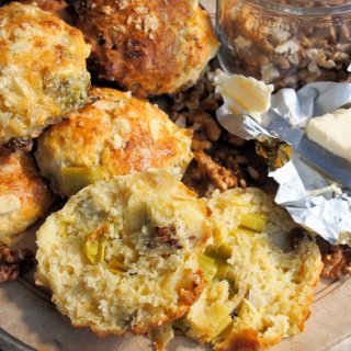 Scones – Wensleydale Cheese, Leek & Walnut Scones