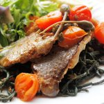 Pan-Fried Sea Bass Fillets in a Pastis & Caper Butter Sauce