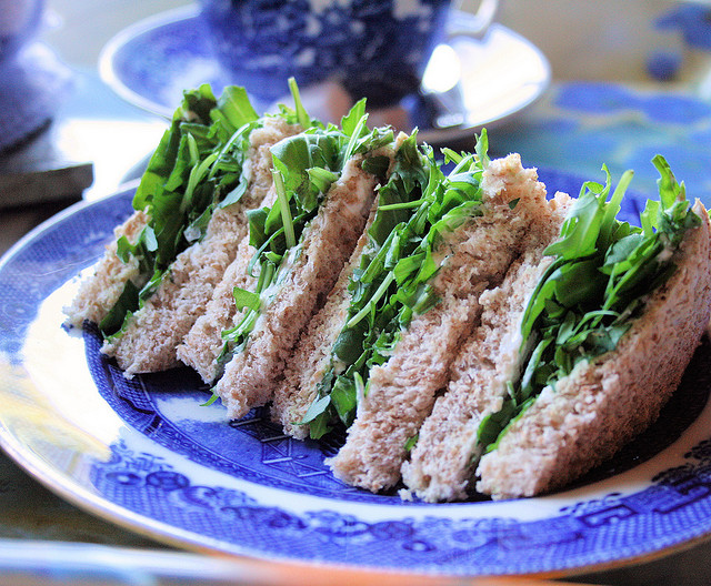 """Poor Man's Bread"" - Victorian Watercress Tea Sandwiches for High Tea, Children's School Lunchbox and Picnics"