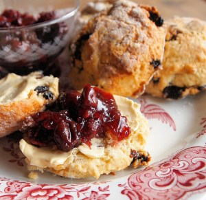 Buttermilk Scones with Sour Cherry Jam