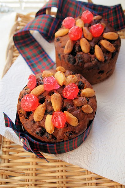 Whisky doused Dundee Cakes