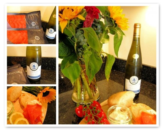 Loch Fyne Salmon and Wine gift package