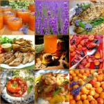 Lavender and Lovage Sunday Patchwork Quilt of Recipes and Photos