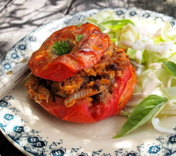 Stuffed Tomatoes with Herbs & Oats (Gluten Free)