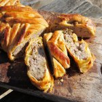 Nocturnal Picnic and Pie - Sausage Plait with Sage and Onion