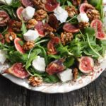 Fresh Fig and Goat's Cheese Salad with Walnuts