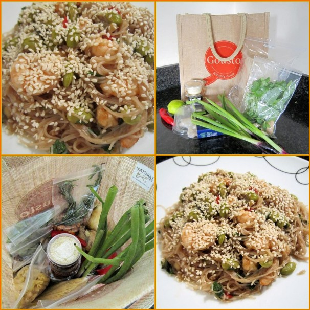 Tamarind, Prawn, Edamame Sauce with Rice Noodles