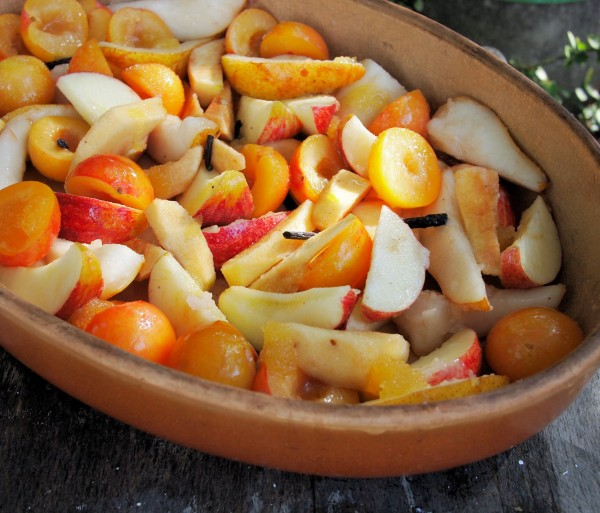 Baked Orchard Fruits uncooked.....