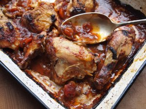 Roast Chicken and Quince Bake