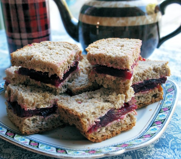 Beetroot Sandwiches made with The National Wheatmeal Loaf