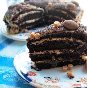 November is Happy Birthday for Tea Time Treats: Salted Caramel and Chocolate Fudge Birthday Cake Recipe
