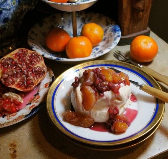 Mini Clementine and Pomegranate Pavlovas