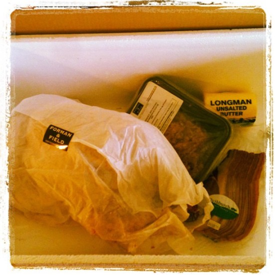Turkey, bacon, butter and special Forman and Field stuffing - Seasonal Box from Knorr