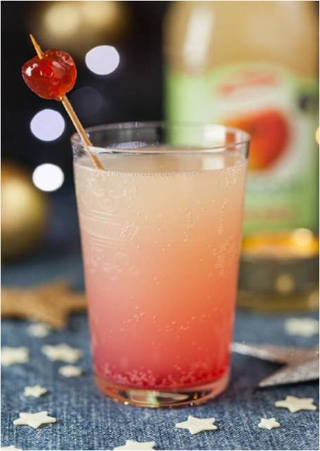 A Pomegranate in a Pink Apple Tree Mocktail Recipe!