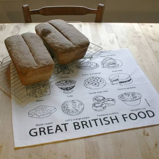 """Giveaway: Win an """"A to Z"""" of Great British Food Print & Tea Towel by Edith and Bob"""