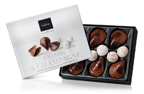 """Valentine's Giveaway: Two Boxes of Hotel Chocolat """"Oysters and Champagne"""" Chocolates"""