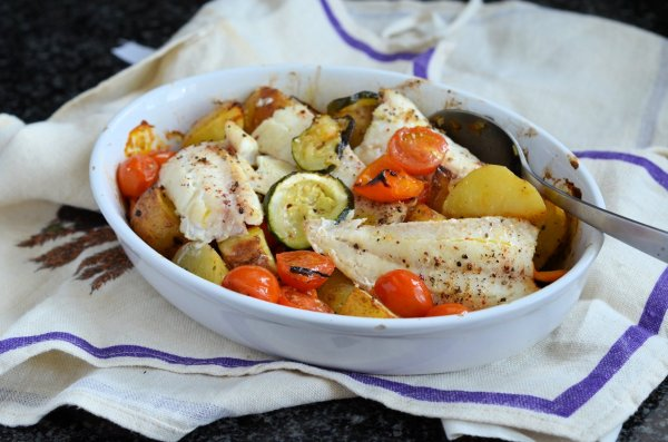 Recipe: Low-Calorie Fish on Friday - Mediterranean Wild Haddock Gratin (270 calories)
