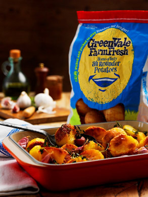 Giveaway: A month's supply of GreenVale Farm Fresh Potatoes and Jamie Oliver Roasting Dish
