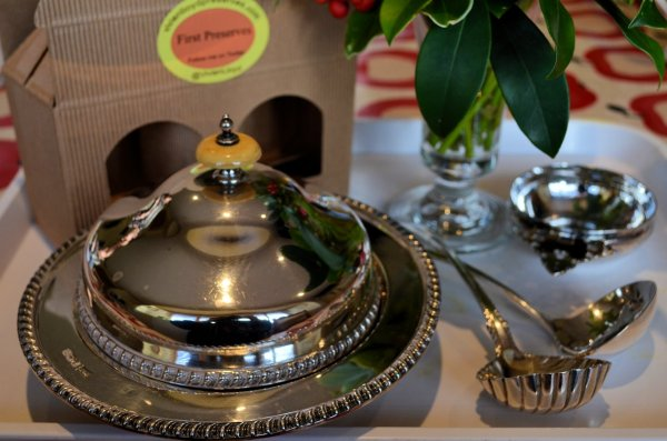 An antique muffin warmer......part of the Lloyd silverware!