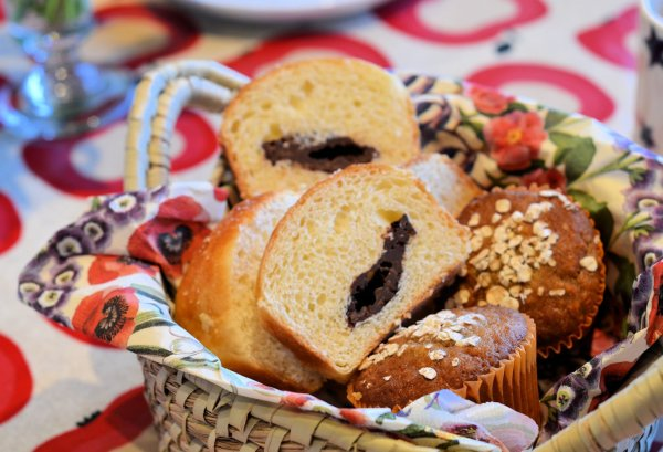 Chocolate Brioche and Muffin Bread basket