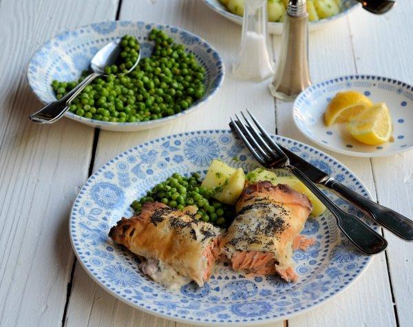 Seductive Salmon! Salmon, Sorrel & Cream Cheese Parcels (Recipe)