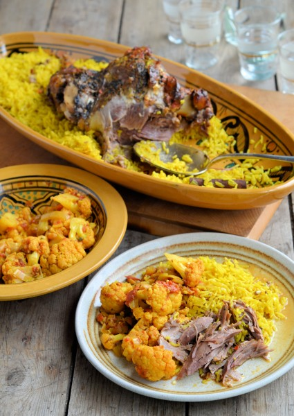 Slow Roast Persian Lamb with Aromatic Rice