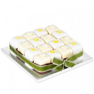 Spring Flowers Fondant Fancies Party Cake