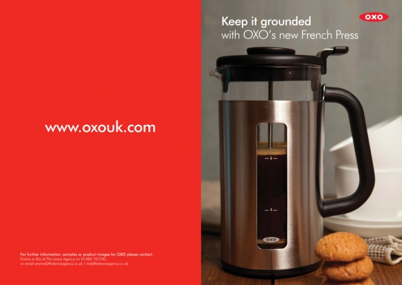 Review & Recipe: OXO French Press, Irish Coffee and Douwe Egberts
