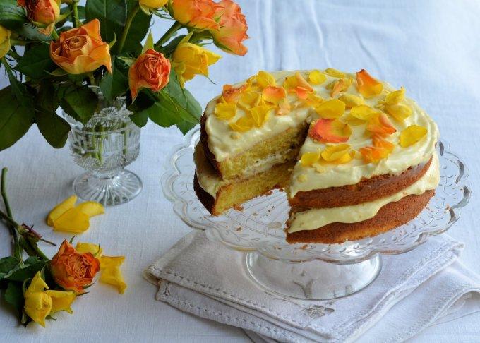 Orange Cream Cheese Layer Cake
