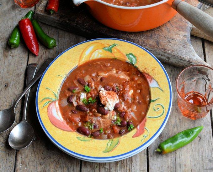 Smoky Mexican Bean Soup (Low-Calorie)