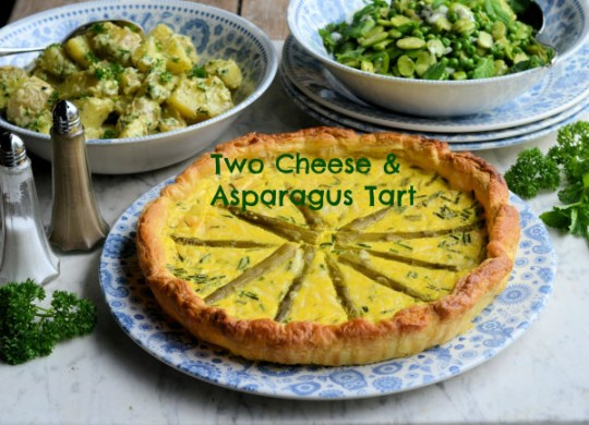 Two Cheese and Asparagus Tart