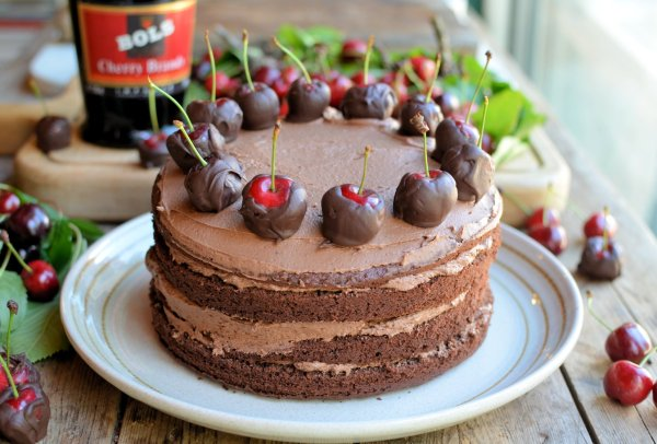 Dad's Chocolate Cherry Cake
