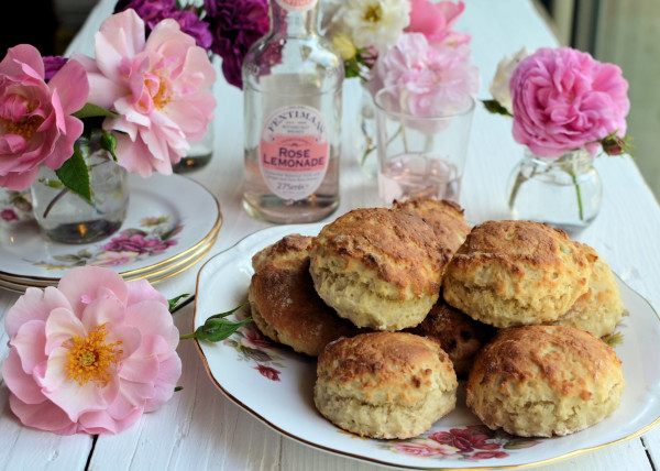 Floral Sunday Baking: Old-Fashioned Rose Lemonade Scones Recipe