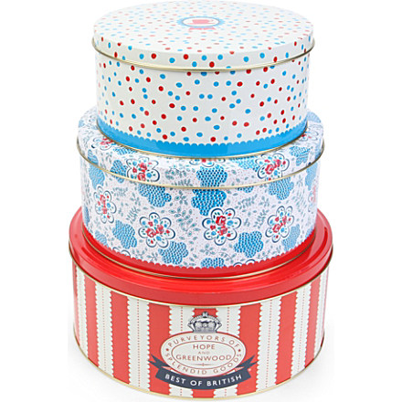 Giveaway: Win Hope and Greenwood set of Three Cake Tins (RRP £25) & a £20 Zulily Voucher
