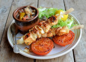 Lemon and Sweet Red Pepper Chicken Kebabs