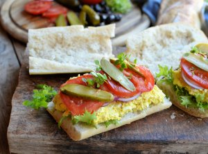 Vegetarian Stuffed Picnic Sandwich Recipe