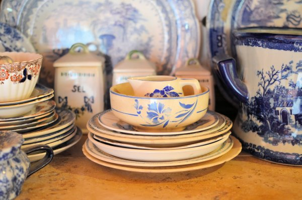 French Cafe Bowls, Salt Pots and Plates