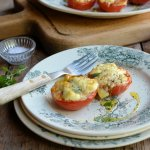 Saint Marcellin Cheese, Tomatoes and Basil - a Delectable Random Dish from Nigel Slater