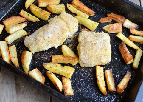 Healthy Fish and Chips for Fish on Friday: Baked Hake & Oven Chips Recipe