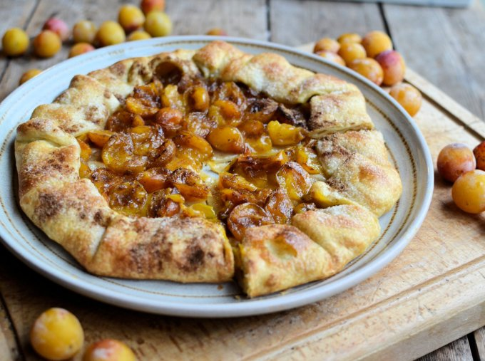Spiced Mirabelle Plum Galette