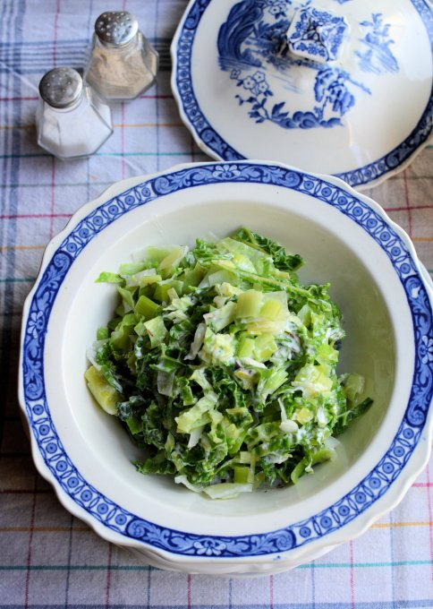 Creamed Leek and Cabbage Braise