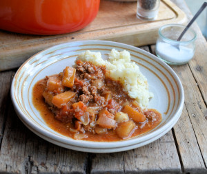 Harvest Festival Minced Beef & Vegetable Casserole